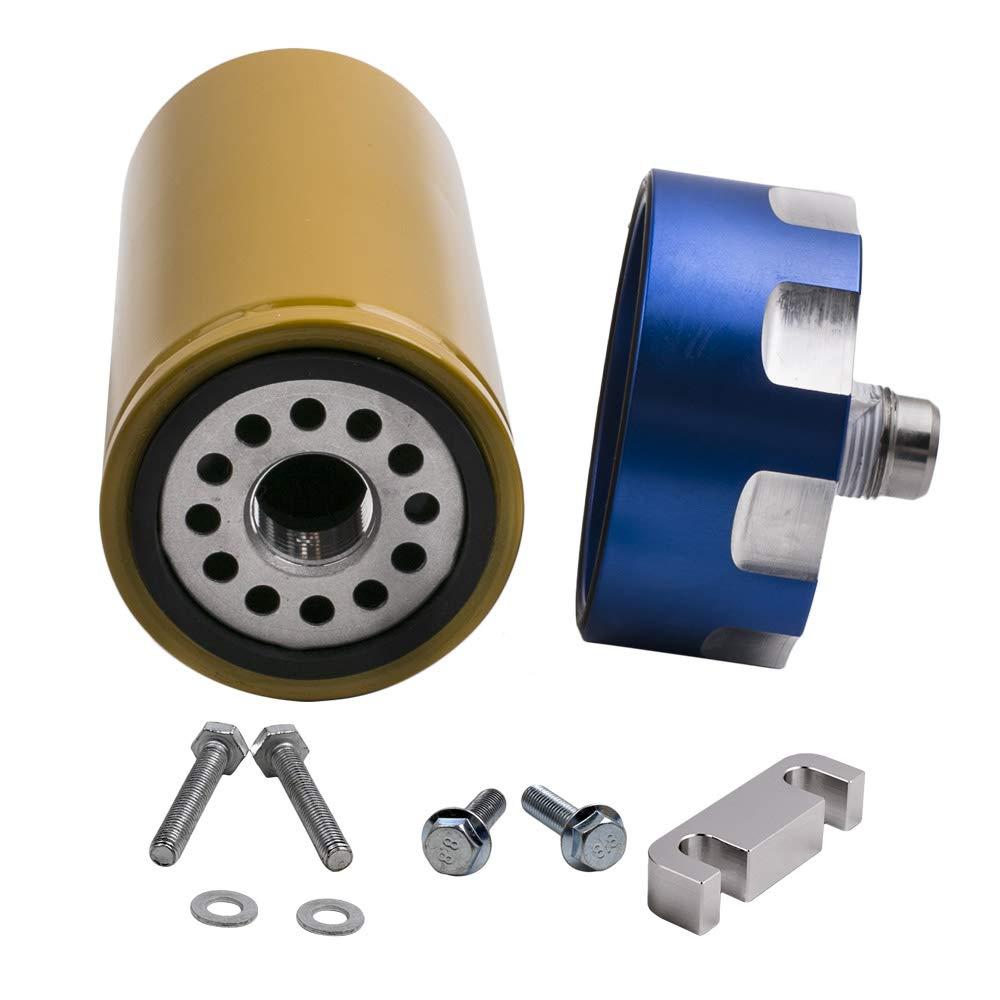 maXpeedingrods Fuel Filter Kit Adapter for GM Duramax Chevrolet GMC 6.6L 2001-2016