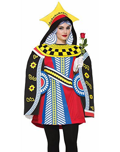 Forum Women's Queen of Cards Costume, as Shown, Standard