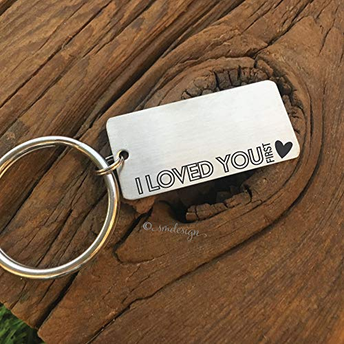 I Loved You First Keychain- Parent Boyfriend Wedding Keychain Dad Wedding Gift Keychain Father In Law Gift Idea For Wedding