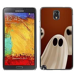 Samsung Note 3 N9000 - Metal de aluminio y de plástico duro Caja del teléfono - Negro - Halloween White Ghost