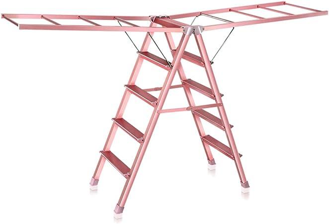 Zaixi Tendedero para Ropa, Escalera Plegable Multifuncional, Rack de Secado para lavandería, Interior/Exterior, Oro Plata yijia (Color : Oro): Amazon.es: Hogar