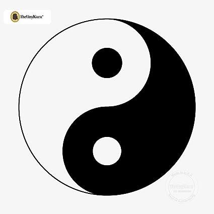 Amazon Thevinylguru Ying Yang Symbol Wall Sticker Decal