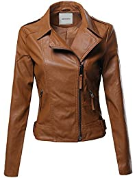 Amazon.com: Beige - Leather & Faux Leather / Coats, Jackets ...