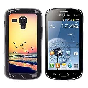 Be Good Phone Accessory // Dura Cáscara cubierta Protectora Caso Carcasa Funda de Protección para Samsung Galaxy S Duos S7562 // sunset seagull ocean summer orange
