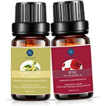 Lagunamoon Essential Oils,Natural Pure Therapeutic Grade Ylang Ylang Rose Aromatherapy Essential Oil