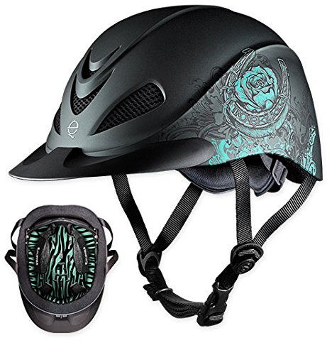 TROXEL REBEL LOW PROFILE WESTERN RIDING HELMET SEI / ASTM CERTIFICATION ALL SIZES & STYLES (Rose Turquoise, Small) (Helmets Western Riding)