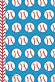 Baseball Red White Blue Journal Notebook: 100 Pages 6 x 9 Lined Writing Pages Paper Player Game Coach Team Fan Diary Planner To Do List