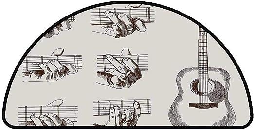 Alfombrilla semicírculo cómoda para guitarra, instrumento de ...