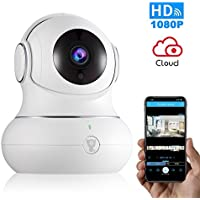 Littlelf p1nt 1080p IP Wireless Home Security Camera with Pan/Tilt/Zoom, Night Version & 2-Way Audio (White)