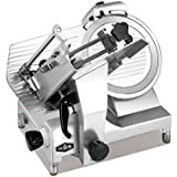 "KWS Premium 450w Electric Meat Slicer 12"" Stainless Blade With Commercial Grade Carriage, Frozen Meat/ Cheese/ Food Slicer Low Noises"