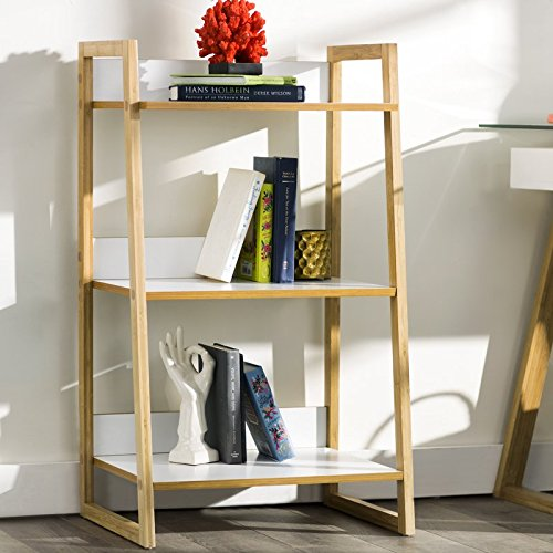 3 Tier Ladder Bookcase Made of Bamboo Wood Clean Lines And Simple But Effective Design Catch All Eyes Place it Any Room You Want by eCom Fortune