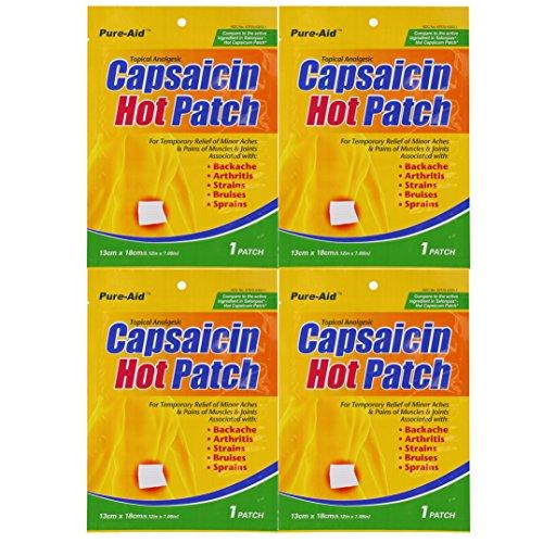 Capsaicin Back Support - Pure-Aid Capsaicin Hot Patch1ct (4 Pack)