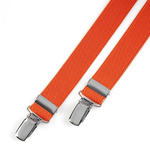Bretelles slim unies 17 coloris - 2,5 cm - Couleur - Orange