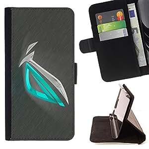 - Abstract Green Metal - - Prima caja de la PU billetera de cuero con ranuras para tarjetas, efectivo desmontable correa para l Funny HouseFOR Sony Xperia Z3 D6603