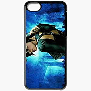 Personalized iPhone 5C Cell phone Case/Cover Skin Aeon Flux Girl Action Black