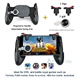 Mobile Game Controller,Game Pad Sensitive Shoot and Aim Keys Joysticks Game Controller for PUBG/Fortnite/Knives Out/Rules of Survival Gaming Triggers for IOS and Android