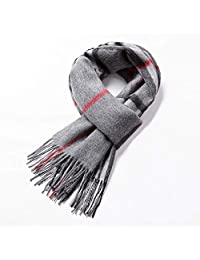 Scarf,Winter Cashmere Business Neckerchief Fashion Scarf Wool Scarf Warm And Thick,Soft And Comfortable (Color : Gray)