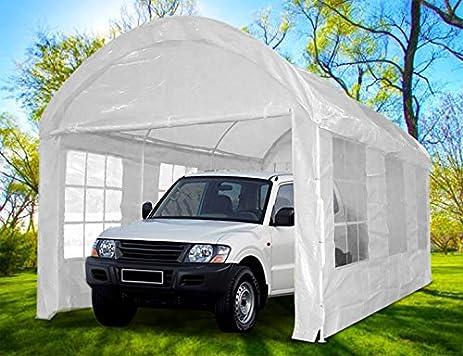 Peaktop 20x10 Heavy Duty Outdoor Carport Car Shelter Garage Gazebo Canopy Party Tent
