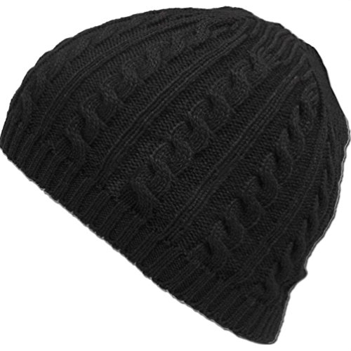 Sunfei Cable Knit Winter Warm Crochet Hat Braided Baggy Beret Cuffless Beanie Cap - Knitted Cable Cuffless Beanie