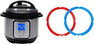 Instant Pot Duo Plus Mini 9-in-1 Electric Pressure Cooker, 3 Quart, 13 One-Touch Programs & Pot Sealing Rings 2 Pack : Mini 3 Quart Red/Blue