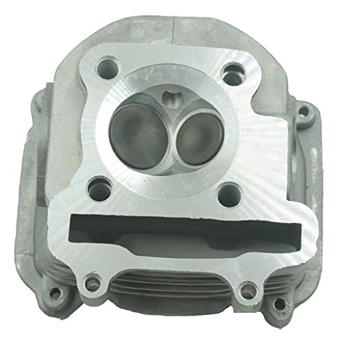 Glixal ATMT1-024 GY6 125cc 150cc to 170cc 61mm Performance Cylinder Head Assy with valves for 152QMI 157QMJ Chinese Scooter Moped ATV Go Kart (None EGR Type) (Best High Performance 4 Cylinder Engines)