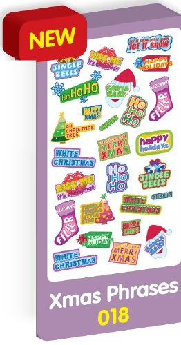 Purple peach sticker sheet for Christmas - xmas phases and ...
