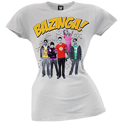 Big Bang Theory - Womens Bazinga Group Juniors T-shirt X-large Grey