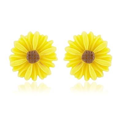 Yellow flower earrings girls daisy earrings also available in yellow flower earrings girls daisy earrings also available in pink includes gift bag mightylinksfo
