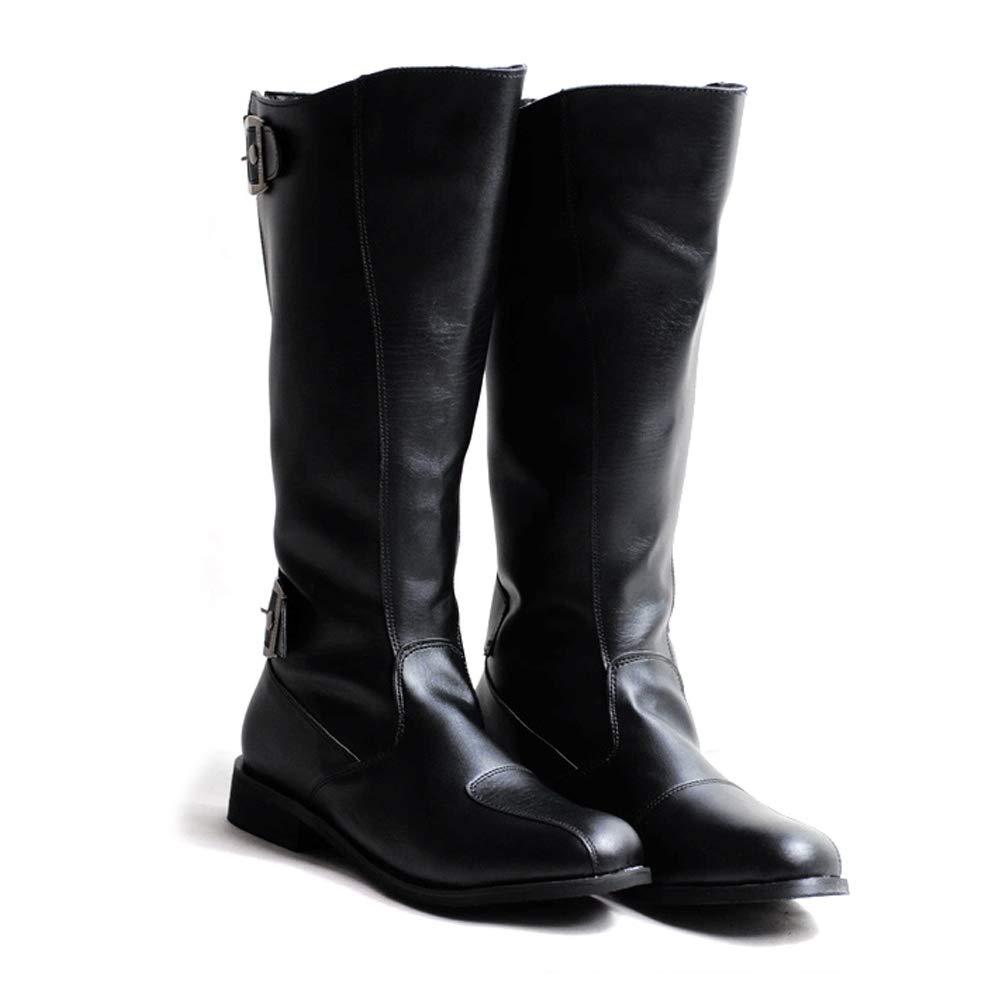 Jaypar Herrenmode Motorradstiefel Lässig Der Britische Stil Einfache Einfache Einfache Klassische Stiefel mit hohem Bein (Farbe   Schwarz, Größe   43 EU) 326b92