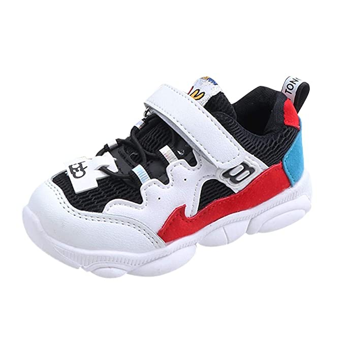 51d54bf9047e9 Amazon.com: Lurryly Toddler Kids Sneakers Boys Girls Cute Casual ...