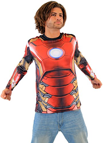 Marvel Iron Man Sublimated LONG SLEEVE Costume T-Shirt (Adult Medium)