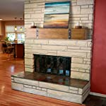 Belham Living Rustic Timber Beam Fireplace Mantel by Chin Shu Wooden Ltd