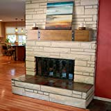 Belham Living Rustic Timber Beam Fireplace Mantel