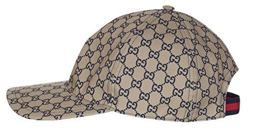 Gucci Men's Navy Blue GG Guccissima Web Stripe Baseball Cap Hat, L/59, - Gucci Blue