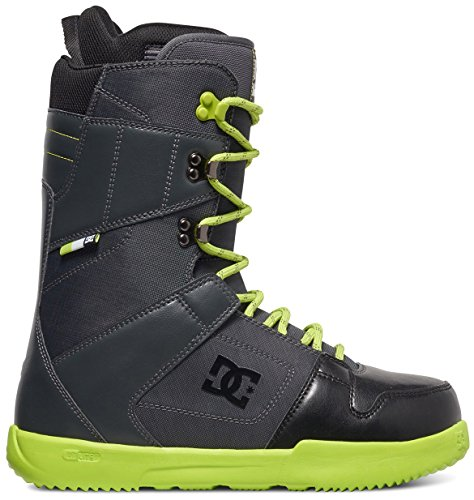 DC Phase Snowboard Boots, Dark Shadow/Black/Lime, Size 8