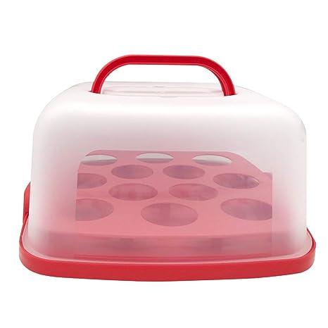 Amazon.com: Portador de pasteles redondo portátil con asa ...