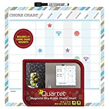 Quartet Chore Chart, Kids, Dry-Erase, Magnetic, 12x12 Inches, Frameless, Design May Vary (CC1212)