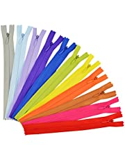 50pcs 7.8 Inch Sewing Zippers, Jmkcoz Nylon Invisible Zippers Tailor Sewer Craft for Sewing Assorted Colors