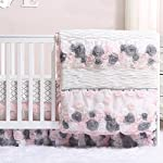 Colette-Pink-and-Grey-Floral-3-Piece-Crib-Bedding-Set-by-The-Peanut-Shell