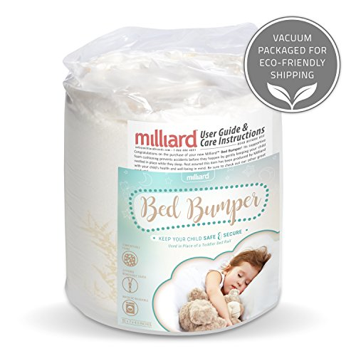 Milliard Bed Bumper {1 Pack} Foam Safety Rail Guard with Non-Slip Hypoallergenic Water Resistant and Washable Cover; Bed Rail for Toddlers, Kids, Adults and Seniors by Milliard (Image #8)