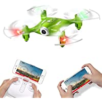 Syma X21W Wifi FPV Mini Drone With Camera Live Video LED Nano Pocket RC Quadcopter With GYRO App Control Green
