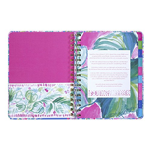Lilly Pulitzer 17 Month Large Agenda, Personal Planner, 2018-2019 (Mermaid Cove) by Lilly Pulitzer (Image #9)'