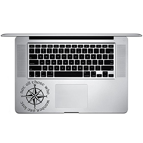 Price comparison product image Not All Who Wander Are Lost LOTR Lord of the Rings, Vinyl Sticker Decal for Laptop and Macbook Trackpad Ipad Iphone