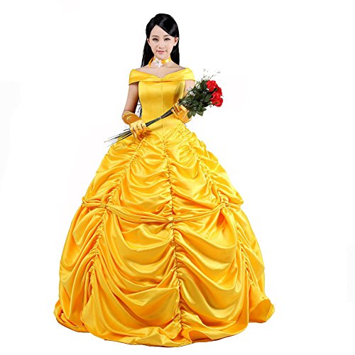 [Cosplayhome Women's Beauty and the Beast Belle Princess Cosplay Dress Gown (costum-made)] (Beauty And The Beast Costume Belle)