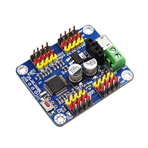 16 Channel PWM Servo Motor Driver Controller Board Module Bluetooth PCB steering gear for SG90 MG995 Arduino Robot Raspberry Pi DIY Servo Shield Module