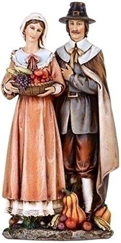 Roman Joseph s Studio Harvest Thanksgiving Pilgrim Couple Figure 10