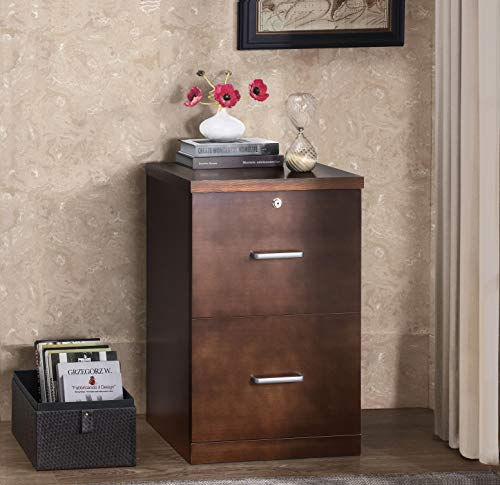 2L Lifestyle Marley 2-Drawer File Cabinet, Brown