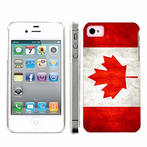 Mobiflare, Slim Clip-on Phone Case, for [iPhone 4 and 4S] - Flag of Canada (Iphone 4s Ice Skating Case)