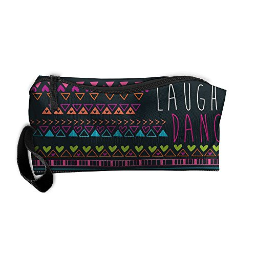 Laugh Oxford - Portable Travel Cosmetic Toiletry Clutch Bag Organizer Case Oxford Laugh Dance Storage Pouch