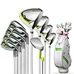Set-da-Club-Set-Ferro-Legno-Polo-Putter-Completa-Golf-Club-Signore-Set-Ball-Bag-con-Verde-13-Color-Green-Size-13